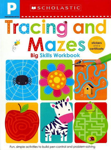 Scholastic Big Skills Workbook Pre-K Tracing and Mazes