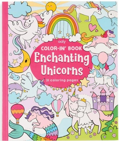 Ooly Color-In Book Enchanting Unicorns