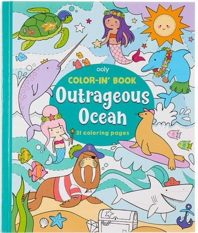 Ooly Color-In Book Outrageous Oceans