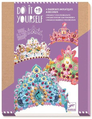 Djeco Art Kit - DIY Princess Tiara Mosaics