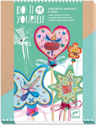 Djeco Art Kit - DIY Little Fairies Wands