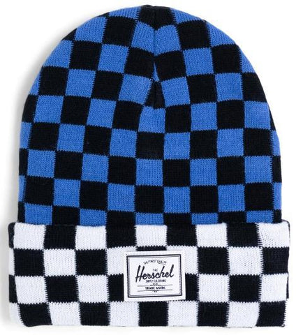 Herschel Elmer Youth Hat Multi Check Amparo Blue/Checker Black White