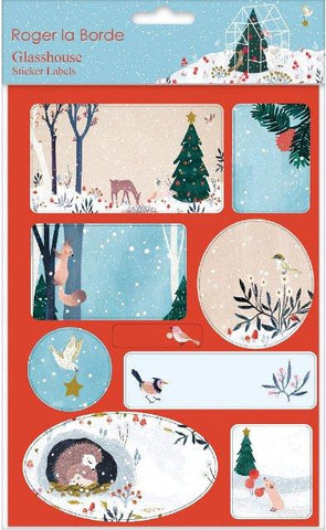 Christmas Sticker Labels Glasshouse
