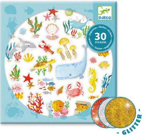 Djeco Art - Stickers Glitter Aqua Dream