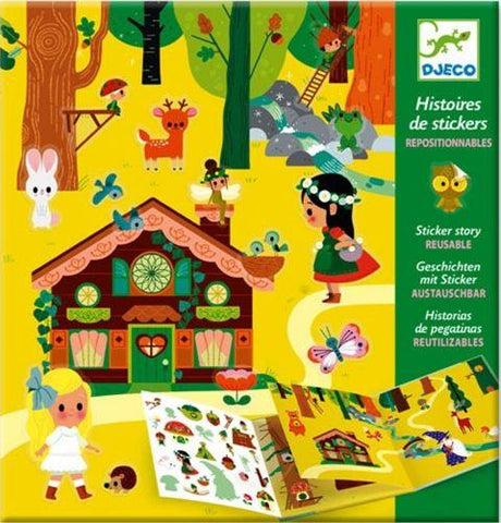 Djeco Art Kit - Sticker Story Magical Forest