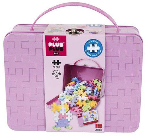 Plus-Plus Big Pastel Suitcase, 70 Piece