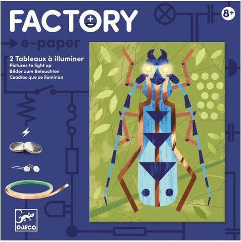 Djeco Art Kit - Factory e-paper Insectarium