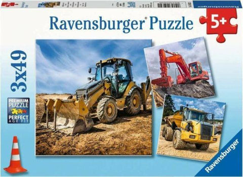 Ravensburger Puzzle 3 x 49 Piece, Diggers at Work