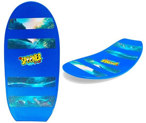 Spooner Board Freestyle Blue with Turtle Wave Grip