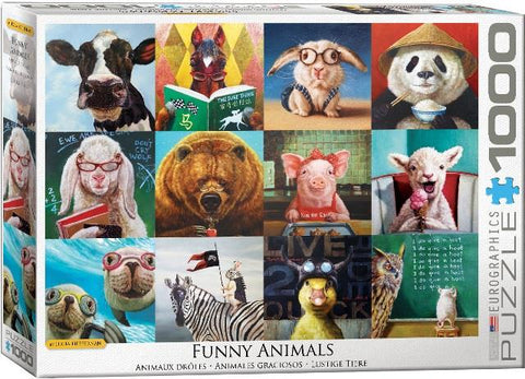 Eurographics Puzzle Funny Animals, 1000 Piece