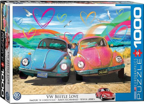 Eurographics Puzzle VW Beetle Love, 1000 Piece
