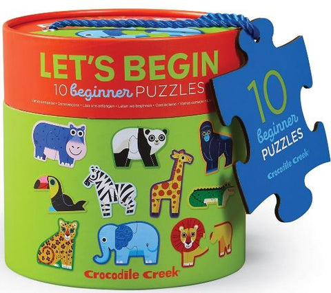 Crocodile Creek Puzzle Let's Begin Jungle