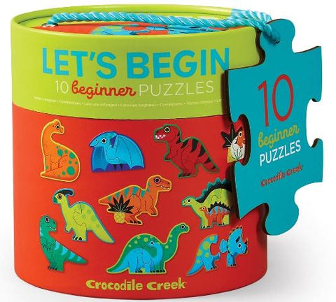 Crocodile Creek Puzzle Let's Begin Dinosaurs
