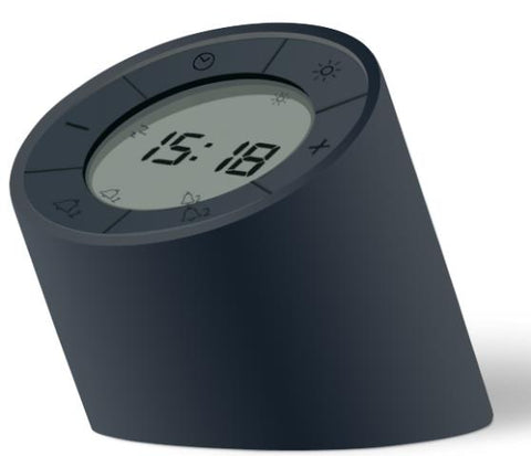 Edge Light Alarm Clock Black