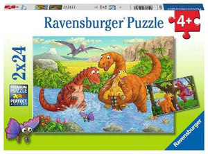 Ravensburger Puzzle 2 x 24 Piece, Dinosaurs at Play