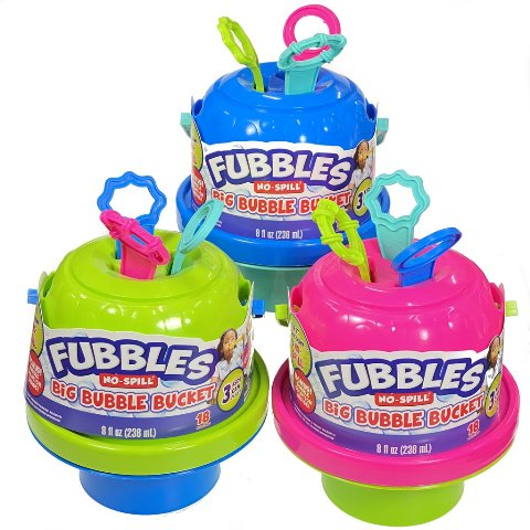 Fubbles Bubbles No-Spill Big Bucket