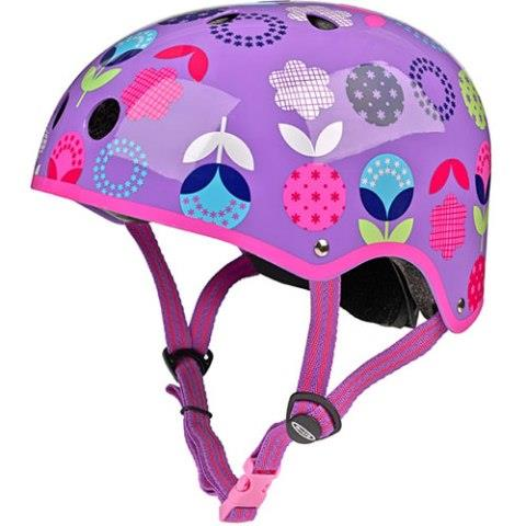 Micro Kickboard Helmet - Purple Floral Dot, Medium