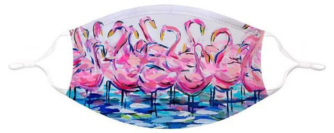 GreenBox Art Face Mask Small/Medium Flamingo Flock