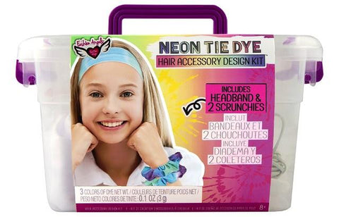 Fashion Angels Neon Tie Dye Hair Accessories Design Kit