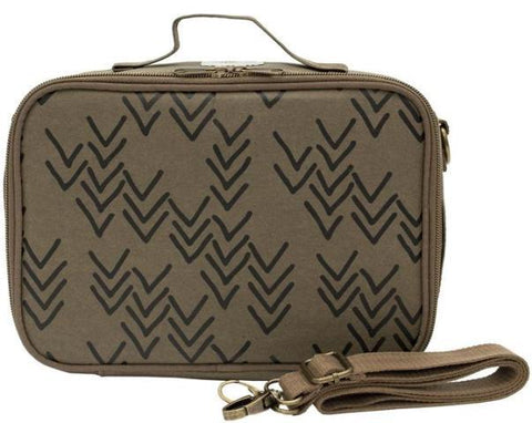 SoYoung Bento Paper Lunch Box Olive Chevron
