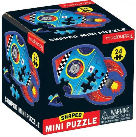 Galison Mudpuppy Mini Shaped Puzzle - Space Ship, 24 Piece