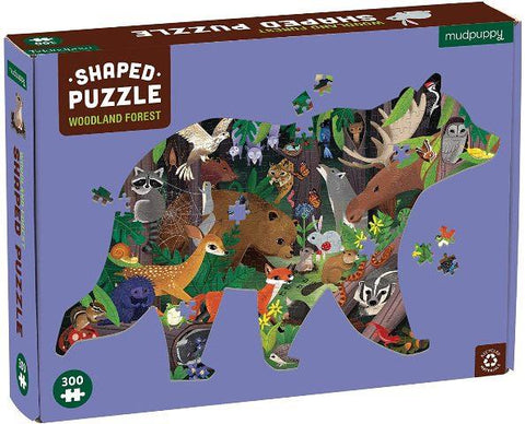 Galison Mudpuppy Shaped Puzzle - Woodland Forest, 300 Piece