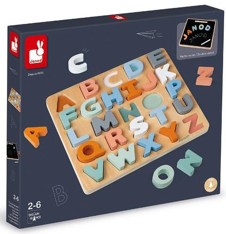 Janod Puzzle - Sweet Cocoon Alphabet Puzzle/Chalkboard