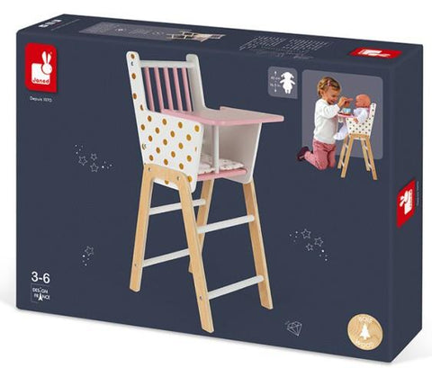 Janod Doll - Candy Chic High Chair