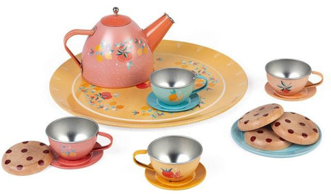 Janod Pretend - Metal Tea Set