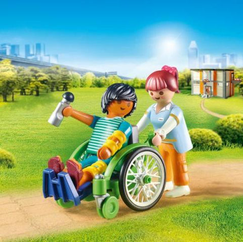 Playmobil City Life Hospital Patient with Wheelchair