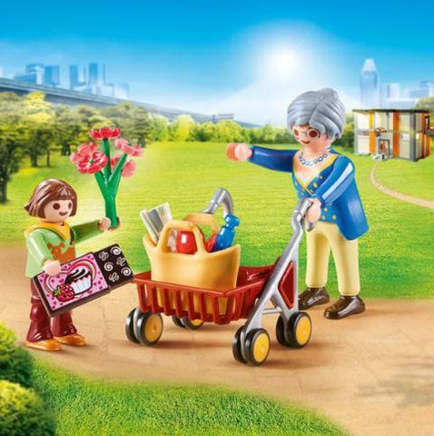Playmobil City Life Hospital Grandmother with Child