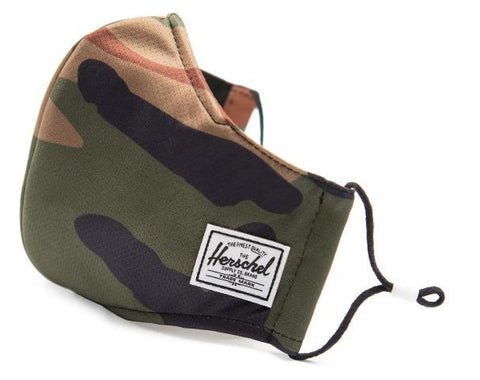 Herschel Classic Fitted Face Mask Woodland Camo