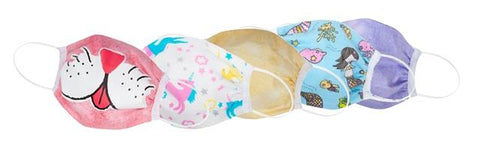 Great Pretenders Childs Face Mask Set - 5 Pack Pink