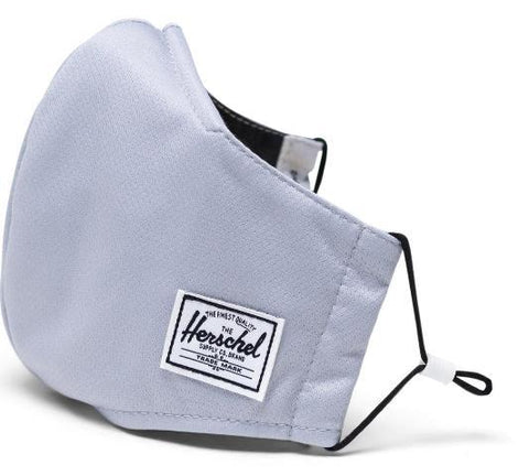 Herschel Classic Fitted Face Mask Light Grey