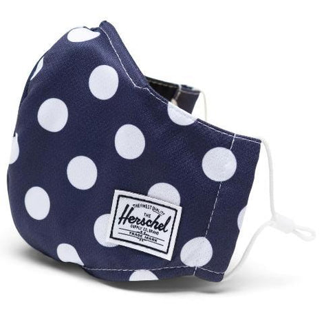 Herschel Classic Fitted Face Mask Peacoat Polka Dot