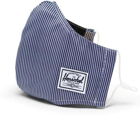 Herschel Classic Fitted Face Mask Peacoat Striped