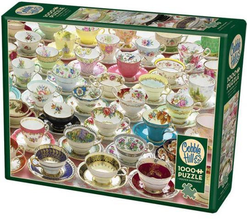 Cobble Hill Puzzle More Teacups, 1000 Piece