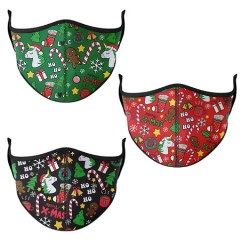 Top Trenz Face Mask Medium Christmas