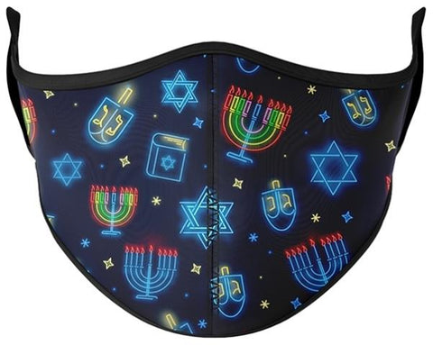 Top Trenz Face Mask Hanukkah, Small