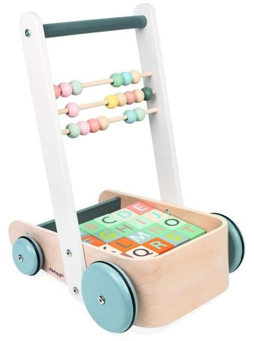 Janod - Cart with ABC Blocks