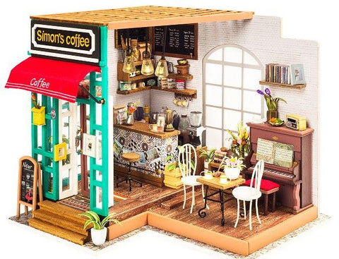 Robotime DIY Miniature Dollhouse Simon's Coffee