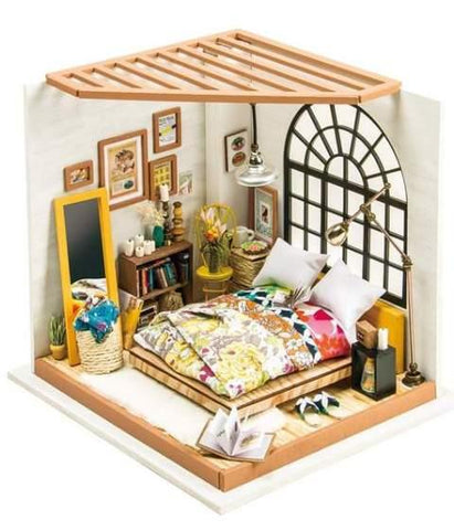 Robotime DIY Miniature Dollhouse Alice's Dreamy Bedroom