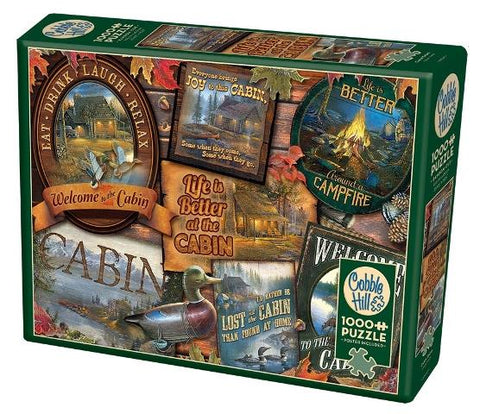 Cobble Hill Puzzle Cabin Signs, 1000 Piece