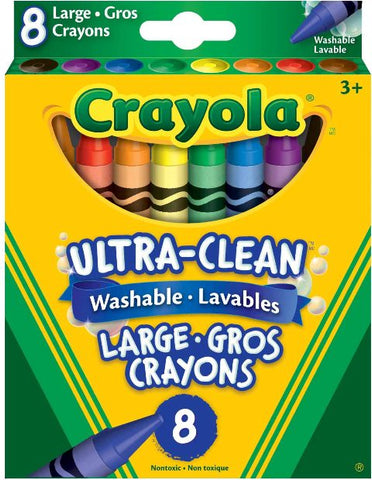 Crayola Ultra-Clean Washable Large Crayons 8 Pack