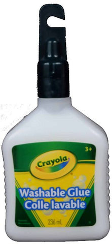 Crayola Glue Washable No-Run School Glue, 236 ml