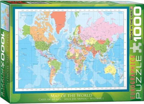 Eurographics Puzzle - Modern Map of the World, 1000 Piece
