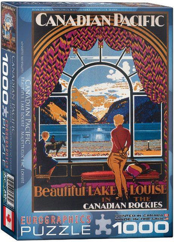 Eurographics Puzzle Beautiful Lake Louise, 1000 Piece
