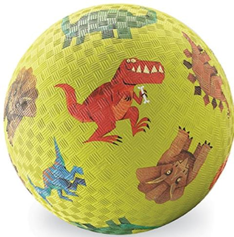 Crocodile Creek Playground Ball - 7 Inch Green Dinosaurs
