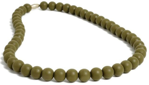 Chewbeads Jane Necklace, Military Olive