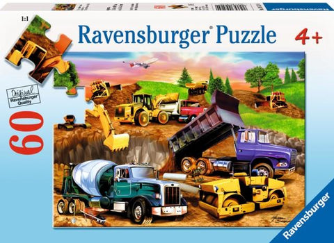 Ravensburger Puzzle 60 Piece, Construction Crowd